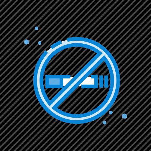 cigarette, no, prohibited, rooms, smoking icon