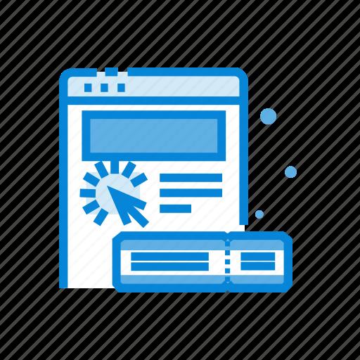 ecommerce, online, reservation, ticket, website icon