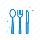 fork, knife, restaraunt, spoon icon