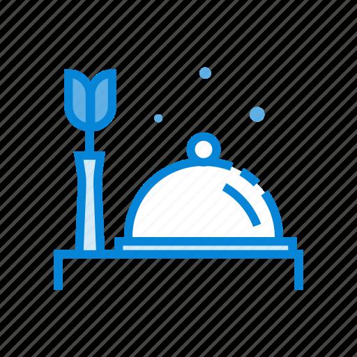 brekfast, flower, hotel, room, service icon