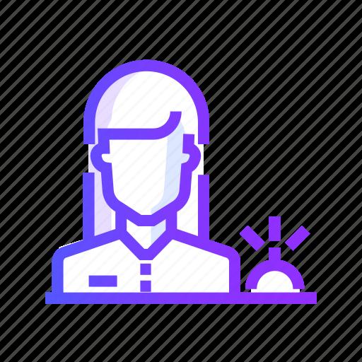 building, desk, office, reception icon