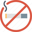cigarette, no smoking, prohibited, restricted, smoke, stop icon