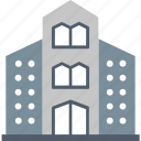 accomodation, building, estate, facilities, hotel, house, office icon