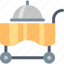 cart, food, hotel, order, restaurant, room, service icon