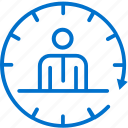desk, front, hotel, hour, reception, service, time icon