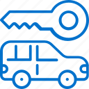 auto, car, hide, hotel, key, service, vehicle icon