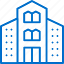 architecture, building, construction, facilities, hotel, house, office icon