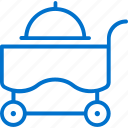 cart, dinner, food, meal, restaurant, room, service icon