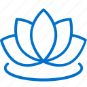 beauty, center, hotel, lotus, relax, spa, wellness icon
