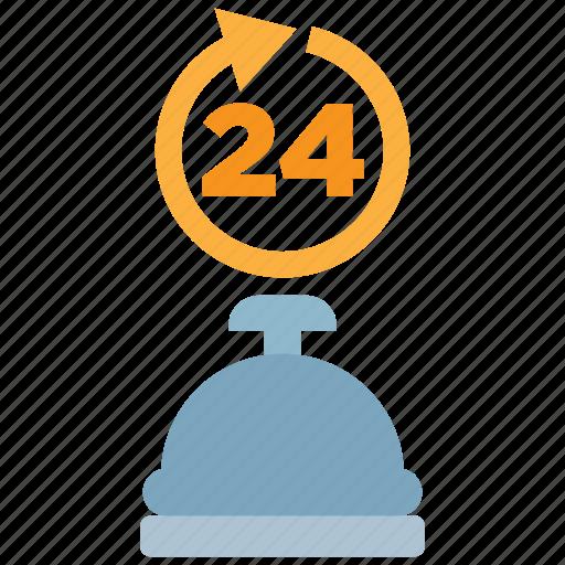 alarm, alert, bell, hotel, ring, room, service icon