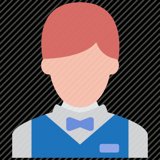 busboy, hotel, restaurant, service, services, serving, waiter icon