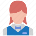 busgirl, executive, girl, hotel, lady, waitress, woman icon