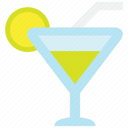alcohol, beverage, cocktail, drink, glass, lemon, wine icon