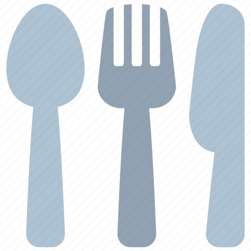 cutlery, fork, kitchen, knife, meal, restaurant, spoon icon