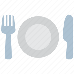 cutlery, dishes, food, fork, kitchen, knife, spoon icon