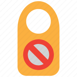 door, forbidden, hotel, prohibited, room, sign, warning icon