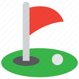 ball, court, flag, golf, golfer, hole, sport icon