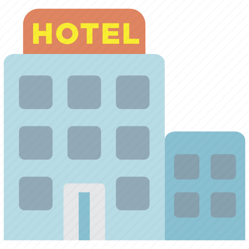 building, hotel, restaurant, room, travel, vacation icon