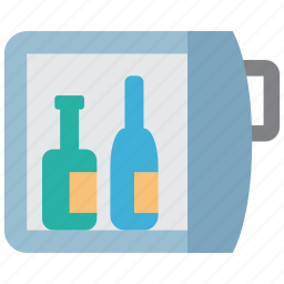 alcohol, bar, beverage, bottle, drink, fridge, refrigerator icon