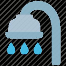bath, bathroom, drop, hygiene, shower, water, wc icon