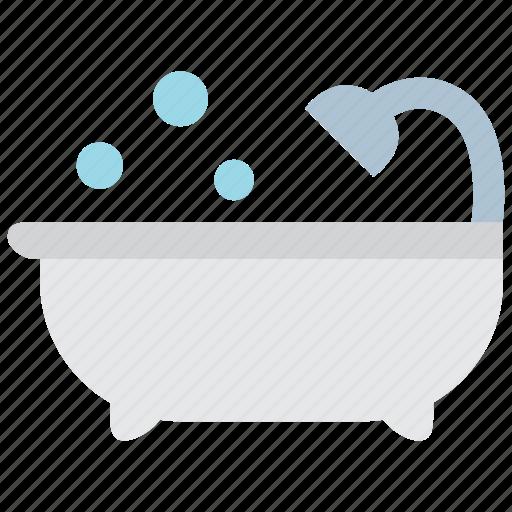 bath, bathroom, drop, faucet, hygiene, shower, water icon