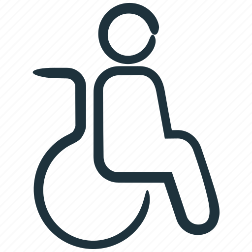 disability, disabled, patient, wheelchair icon