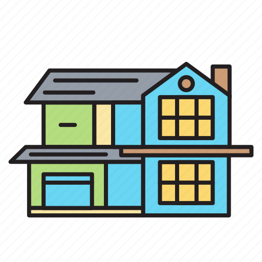 Building, construction, estate, home, house, property, real estate icon - Download on Iconfinder