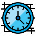 clock, timepiece, wall, watch icon