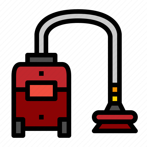 cleaner, electronics, hoover, vacuum icon