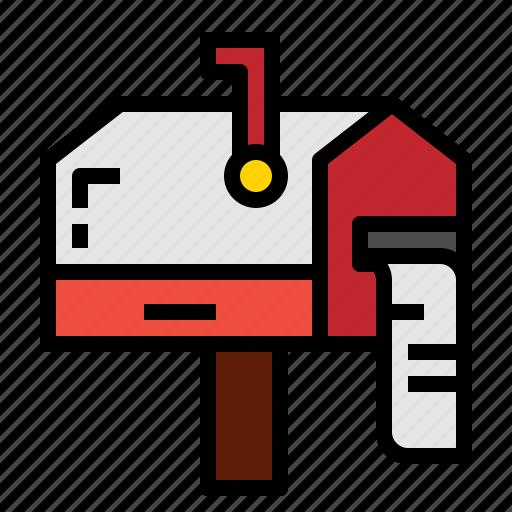 box, mail, mailbox, message icon