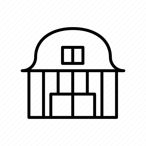 barn, building, home, house, property, residental icon