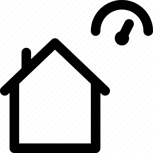 building, home, house, indicator, perfiormance icon