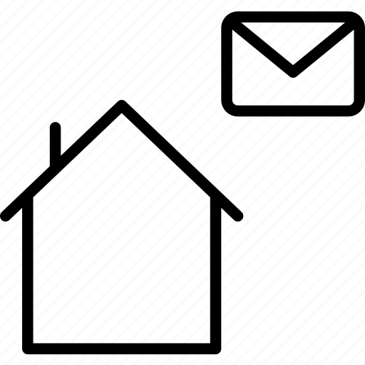 Building, envelope, home, house, mail icon - Download on Iconfinder