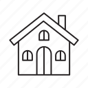 property, attic, home, house, accommodation icon