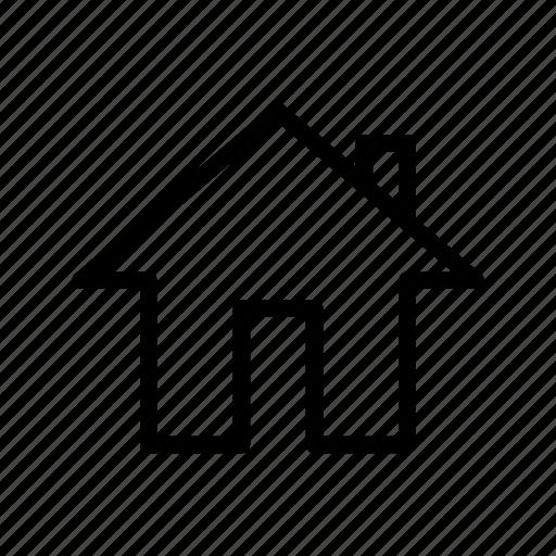 home, tall door, ui icon