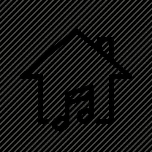 home, listen, music, note, ui icon