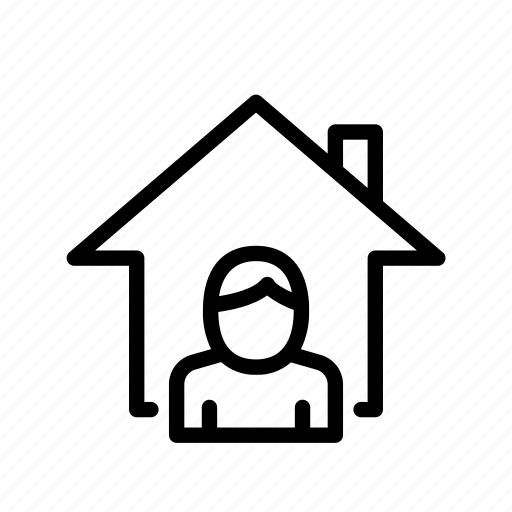 home, ui, user icon