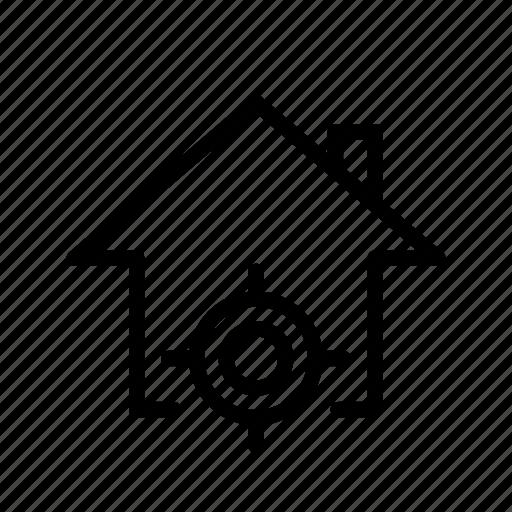 home, location, locator, target, ui icon