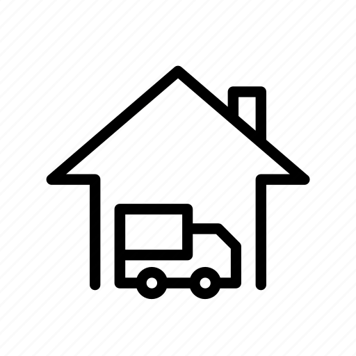 home, move in, move out, truck, ui icon