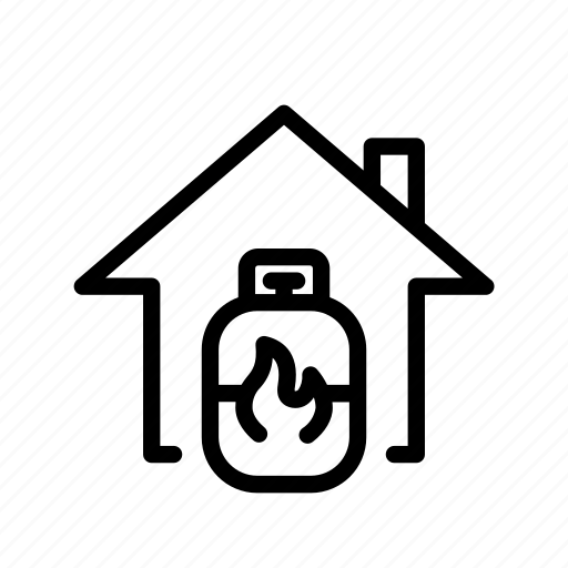 fire, gas, home, natural gas, ui icon
