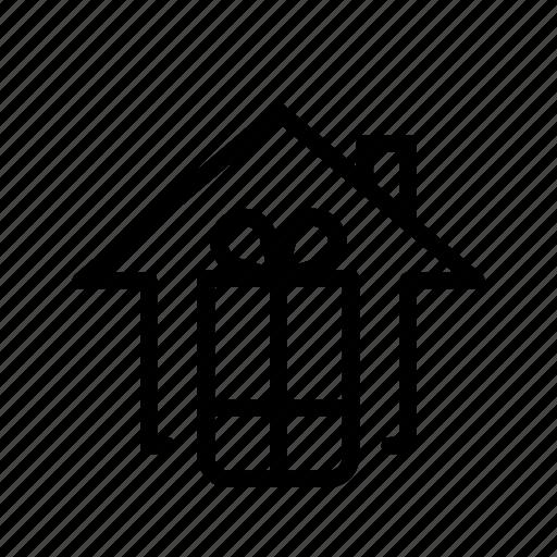 gift box, home, ui icon