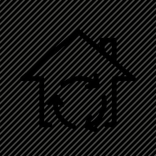 home, location, rotate, ui, way icon