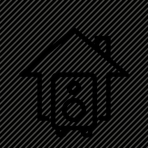 home, listen, music, sound, sound system, ui icon