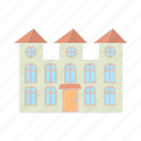 arch, architecture, cartoon, estate, home, house, residential icon