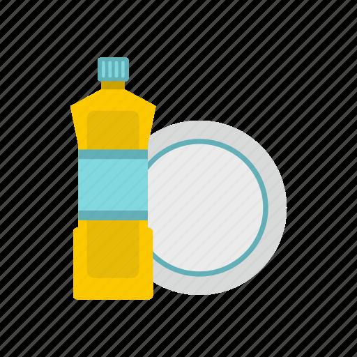 bottle, clean, detergent, dishwashing, hygiene, liquid, plastic icon
