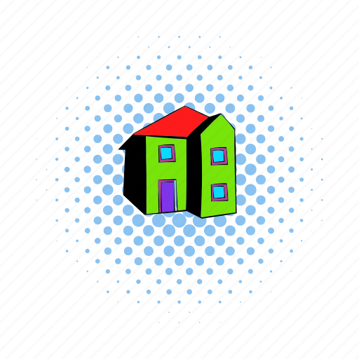 Architecture, comics, estate, home, house, real, residential icon - Download on Iconfinder