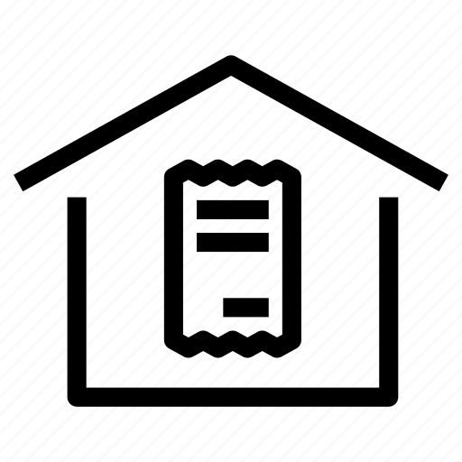 bills, costs, expenses, home, house, property, record icon