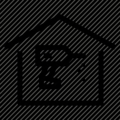 bricolage, drilling, home, house, maintenance, refurbish, repair icon
