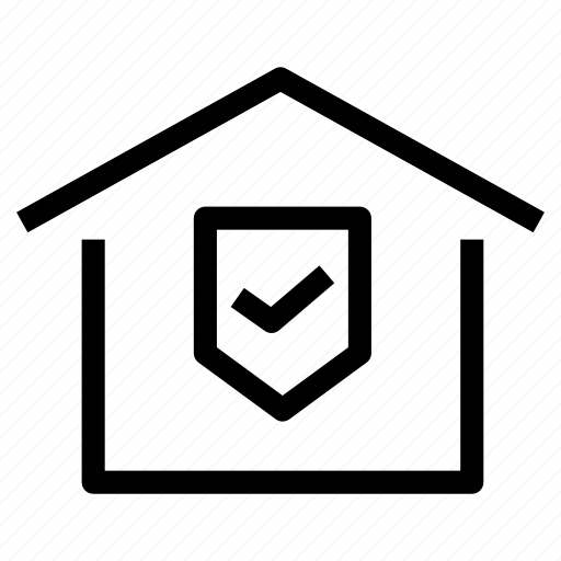 certification, certified, home, house, inspected, property, quality icon
