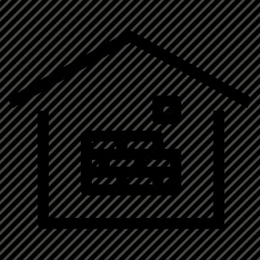bricks, build, building, construction, home, house, property icon